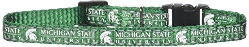 (Pet Goods Manufacturing NCAA Michigan State Spartans Cat Collar, 3/8 x 8-12