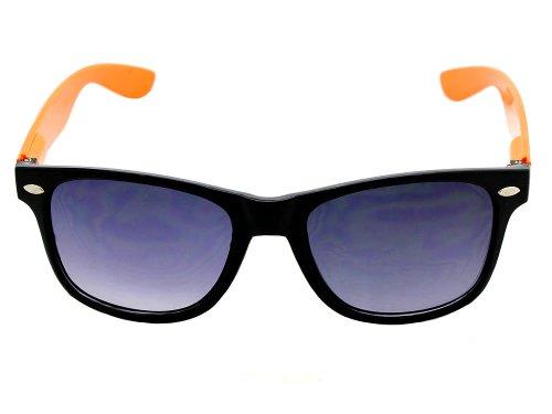 Orange Neon Black Sunglasses Wayfarer