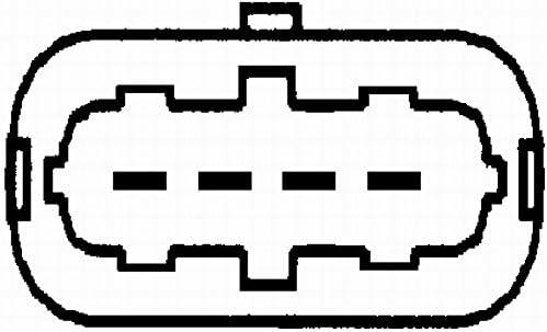 HELLA 8ET 009 142-031 D/ébitm/ètre de masse dair Type de montage Tubulure Nombre de connexions 4