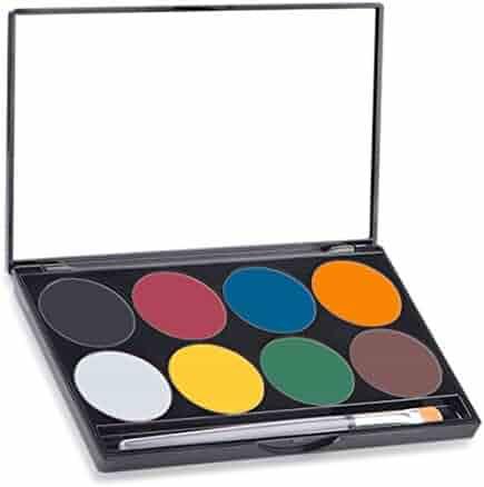 Mehron Makeup Paradise AQ Face & Body Paint 8 Color Palette- BASIC