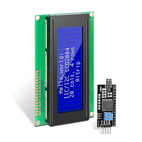 AiTrip IIC/I2C/TWI 1602 Serial 2004 20x4 Blue Backlight LCD Module Shield for Arduino Uno Mega2560