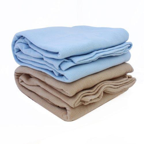ALTA Luxury Hotel Fleece Blanket, Full Queen, Tan