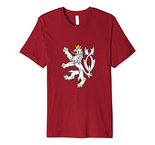 Czech Republic Coat Of Arms Shirt Bohemian Lion Symbol Premium - Czech Coat Of Arms