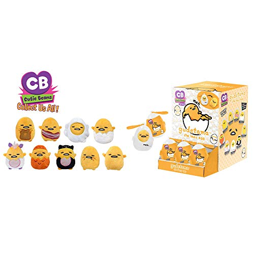 (Fiesta Toys Mystery Mini Cutie Beans Sanrio Gudetama The Lazy Egg Animal Plush Clip On Toys Series 1 - 2 Piece Set)