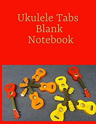 Ukulele Tabs Blank Notebook: Ukulele Tablature, 100 Pages