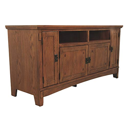 Ashley Furniture Signature Design - Cross Island TV Stand - 60in with 3 Cabinets and 2 Cubbies - Vintage Casual - Medium Brown