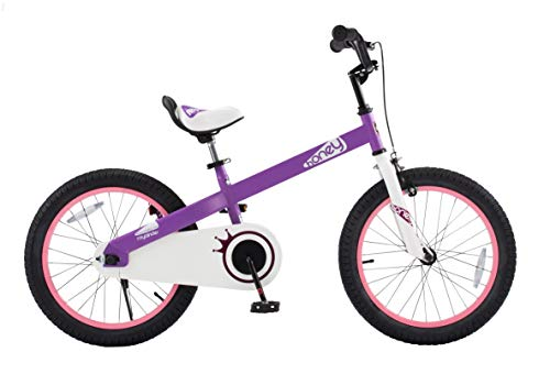 "RoyalBaby CubeTube Honey 18""  Bicycle for Kids, Lilac"
