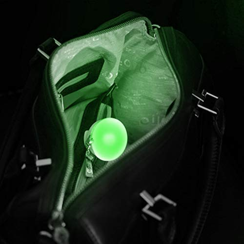 Automatic motion sensor activated lights. Hand bag with jewel case. Perfect gift. Keychain light. Leash. Luz cartera, mochila (green): Shoes