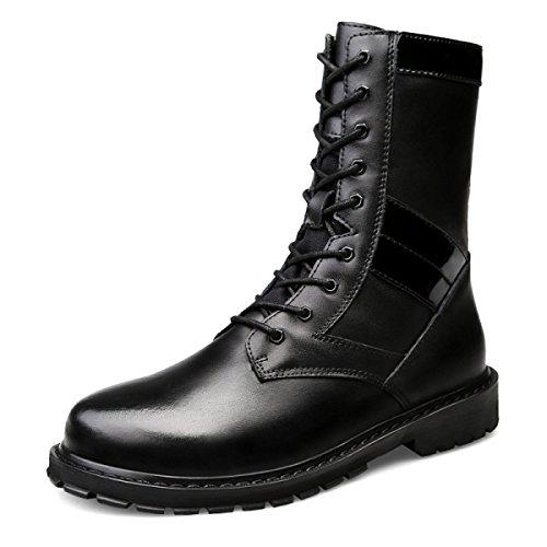 Herbst Männer Europa Und Die Vereinigten Staaten Martin Stiefel Herrenbekleidung Lederstiefel Lederstiefel Black