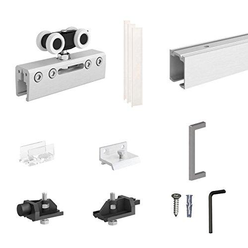Sliding System - Glass Door Sliding System SLID'UP 190-1 Glass Door - Track 78 in (2 m) - 220 lbs (100 kg)