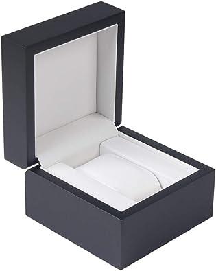 HuWei Caja organizadora para Reloj, de Madera de Primera Calidad, para Guardar Joyas, Pulseras, Caja de Regalo de una Sola Rejilla G0010: Amazon.es: Joyería