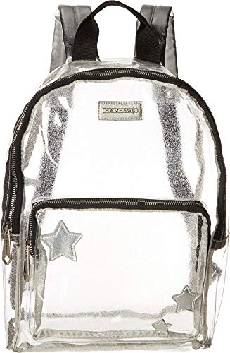 Rampage Womens Clear Dome Backpack with Front Stars Silver One - Backpack Dome