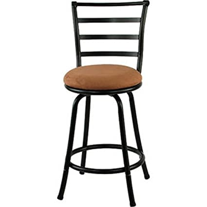 Amazoncom Mainstays Metal Swivel Bar Stool 24 Black Kitchen