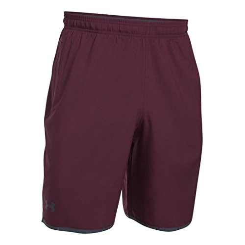 Under Armour Men's Qualifier Woven Short, Raisin Red/Grey, LG x One Size