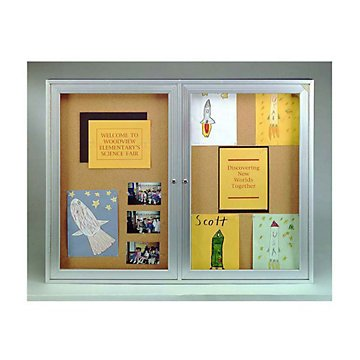 48'' x 36'' Corkboard with Aluminum Frame
