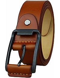 Heepliday Men's Unique Buckles Leather Belt