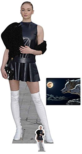Fan Pack - Sophie Turner White Boots Lifesize and Mini Cardboard Cutout / Standup / Standee - Includes 8x10 Star ()