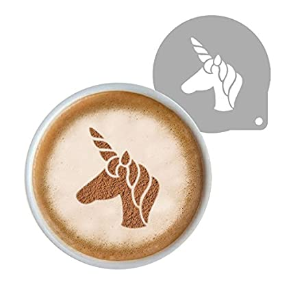 Astra Gourmet Fantasy Unicorn Cookie Cake Craft Coffee Stencil Coffee Decorating Stencils Template for Latte Cappuccino, Cupcake Cookie Stencils, 2.95 2.95