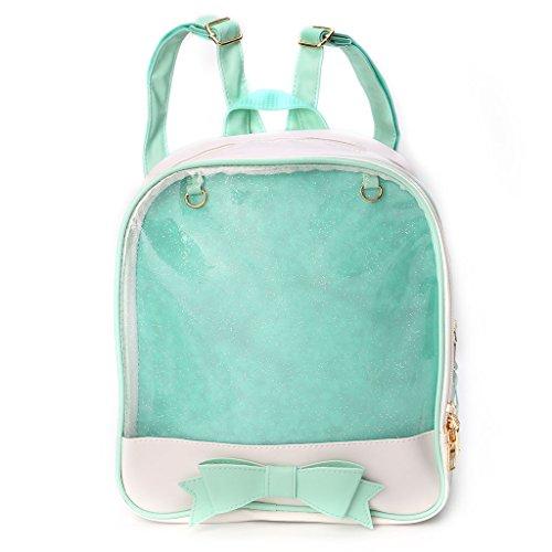 borsa delle spalla a dello caramella borsa studente Bookbags KofunSacchetto viaggio Verde scuola Zaino ragazze della della trasparente da sveglia di dolce colore di Rtaqnw