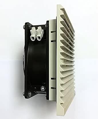 Ventilador-Extractor 255 x 255 250m3/h 24VDC gris Ral 7035