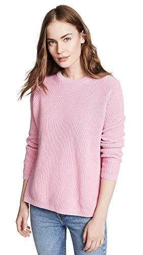 525 America Women's Shaker Crew Sweater, Seashell Pink, Medium
