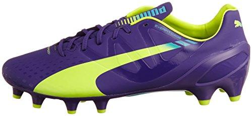 Puma Voetbalschoenen Evo Snelheid 1.3 Fg 103008 01 Voetbal Heren Prisma Violet - Fluro Geel - Scuba Blauw