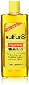 Sulfur 8 Deep Cleaning Shampoo for Dandruff, 7.5 Ounce