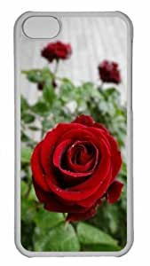 Customized iphone 5C PC Transparent Case - Flower 120 Personalized Cover