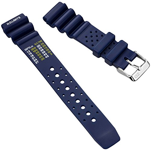 Dive Watch Band by ZULUDIVER, NDL Type for Citizen, Blue, 20mm
