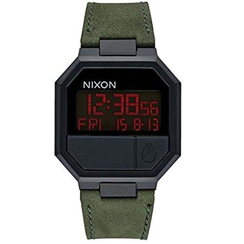 Nixon Re-Run Leather A944-032 Mens Wristwatch Design Highlight