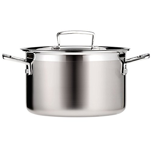 Le Creuset Tri-Ply Stainless Steel 4-1/4-Quart Covered Casse