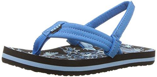 (Reef Boys' AHI Glow Sandal, Blue, 056 M US Toddler)