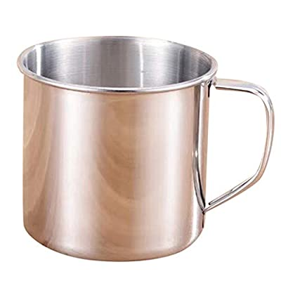 Newkelly Stainless Steel Camping Mug Cup Outdoor Drinking Coffee Tea Handle Cup