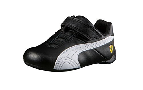 PUMA Baby Ferrari Future Cat V Kids, Puma Black-Puma Black-Puma White, 4 M US Toddler