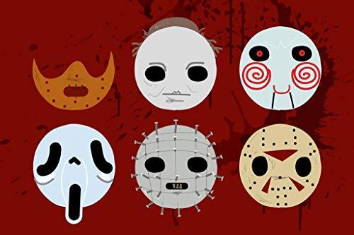 Horror Masks Art Mural Giant Poster 36x54 -