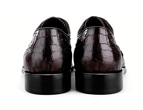 Color Clásicos Cuero Hombres Zapatos para 41 de Formal Piel Color Cafe Zapatos Negocios Tamaño Negro de EU Color Cafe Marea para UK7 Ropa de Hombre Zapatos SfzF0