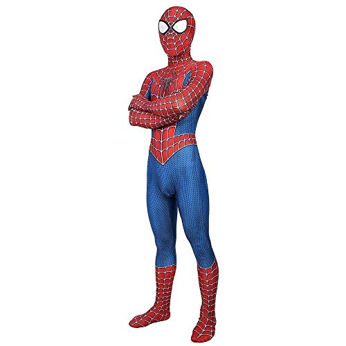 PIAOL Avengers Spiderman Costume Remy Cosplay Adult Child Siamese Pantyhose Halloween Costume,Red-M