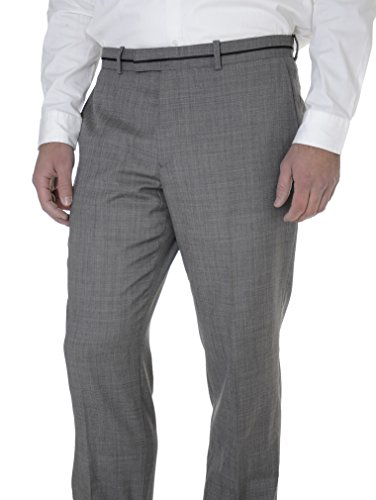Bar III Mens Slim Fit Gray Stepweave Flat Front Wool Blend Dress Pants by Bar III
