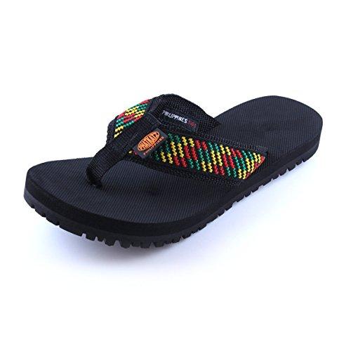Phatkatz Unisex Summer Beach Pool Flip Flops Beach Slippers Home Casual Sandal (10, Rasta) by Phatkatz