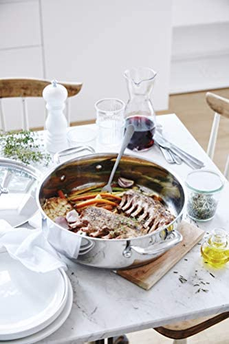 Bekaline 12066284 Chef Cocotte 2 anses + Couvercle en acier inoxydable 28 cm