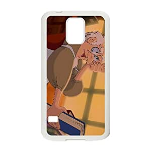 (NRSH) Samsung Galaxy S5 Cell Phone Case White Beauty and the Beast Character Bookseller