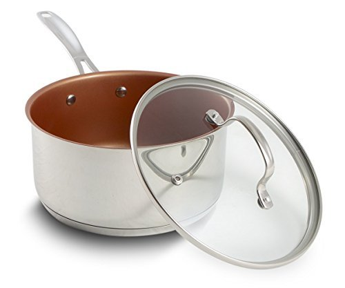 NuWave 3 Quart Non-stick Saucepan with Tempered Glass Lid