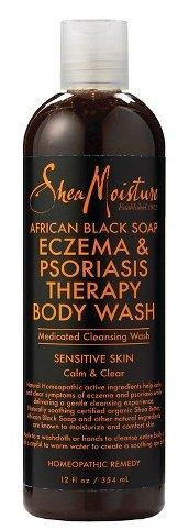 Shea Moisture African Black Soap Eczema Psoriasis Medicated Cleanser for Sensitive Skin 12 oz