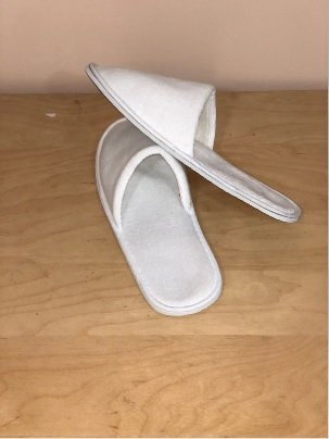 AweTech Premium White Terry Closed Toe Slippers (10 Pack) | 5 Female + 5 Male Slippers by AweTech