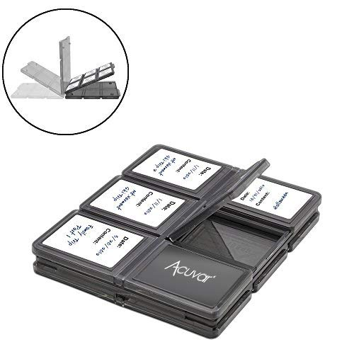 12 Piece SD/SDHC Memory Card Hard Plastic Case & Microfiber Cloth (Simple Stack Cd Drawer)