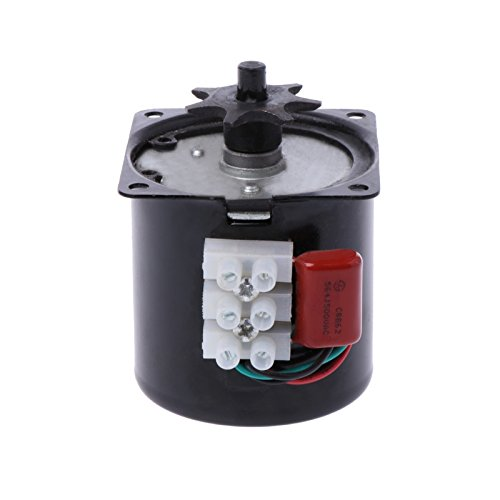 Poity 220V AC Egg Turner Motor Incubator Engine Reversible Geared Components 2.5r/min