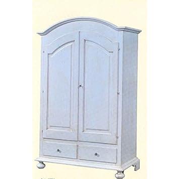 Schrank Holz Weiß Antik Gealtert U2013 Landhaus Stil U2013 Wie Foto Weiß Und  Elfenbein