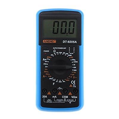 Vanpower Professional Digital Multimeter, DT-9205A AC DC LCD Display Electric Handheld Tester Meter Multimetro Ammeter Multitester