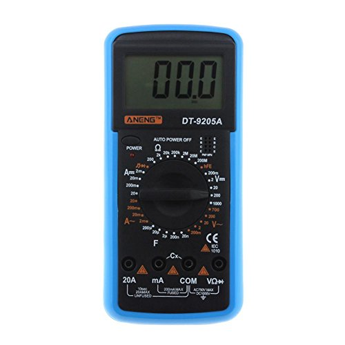 Digital Multimeter DT-9205A AC DC LCD Display Professional Electric Handheld Tester Meter Multimetro Ammeter Multitester by UEB