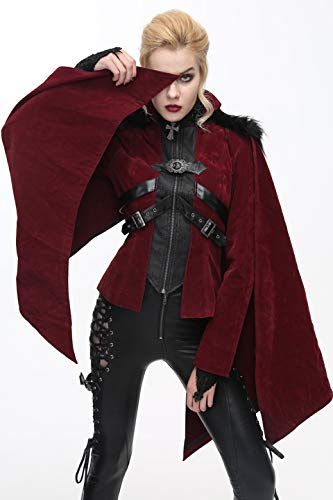 Manteau ¨¦pais D'hiver 7 Fashion Vampire Femmes Les Devil Punk Pour Gothique Tailles 5WXqv1